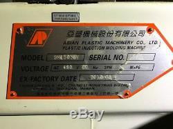 165 Ton, 10 oz. ASIAN PLASTIC SM-150TSV Injection Molding Machine engel milacron