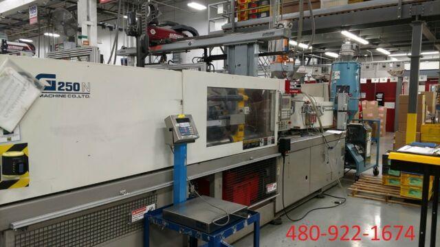 1999 250 Ton 13.1 Oz Toshiba Isg250nv10-10y Plastic Injection Molding Machine