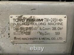1999 Toyo TM-245H Plastic Injection Molding Machine 245 Ton 17.5 oz Shot Size