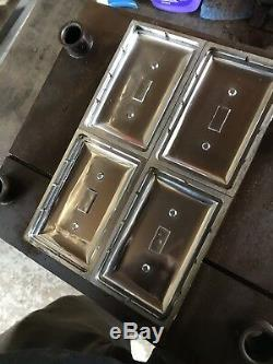 5 Plastic injection Molds, Light Switch Cover, Plug Covers. SHIPS BY FREIGHT