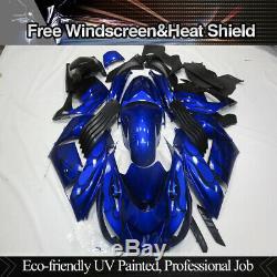 ABS Blue Injection Plastic Molding Fairing Kit For Kawasaki Ninja ZX14 2006-2011