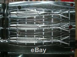 Aluminum Injection Soft Plastic Bait Fishing Mold 4.5 Ribbed Jerk Bait 6 Cavity
