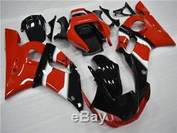 Black Red Injection Molding Plastic Kit Fairing Fit for YAMAHA 1998-2002 YZF R6