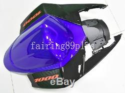 Blue Black ABS Plastic Injection Mold Fairing Kit Fit for GSXR1000 2005 2006
