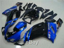 Blue Black Injection Plastic Kit Fairing Fit for 2007 2008 Ninja ZX-6R 636 Mold