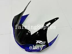 Blue White Black ABS Plastic Injection Mold Fairing Kit Fit for YZF R6 1998-2002