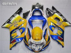 Fairing Fit for Suzuki 2001-2003 GSXR600 GSXR750 K1 Injection Mold Plastic Kit
