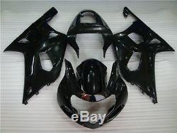 Fairing Plastics Set Fit For Suzuki GSXR 600 750 K1 01-03 Black Injection Mold