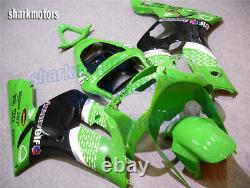 Fairing Plastics Set Fit for Ninja 636 ZX6R 2003-2004 Green Black Injection Mold