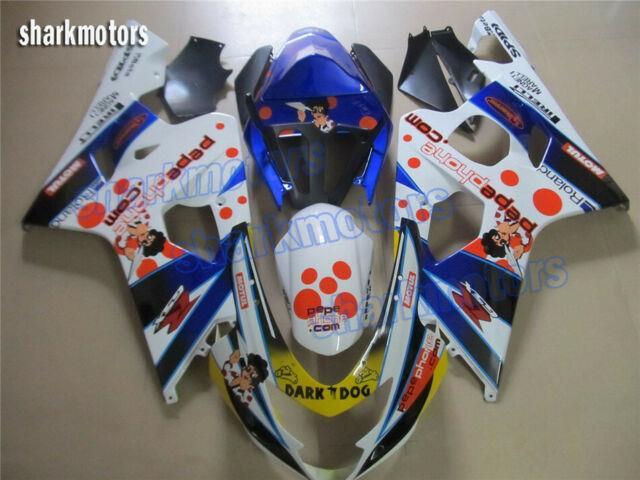 Fairing Plastics Set Fit For Suzuki Gsxr 600 750 K4 2004-2005 Injection Mold New