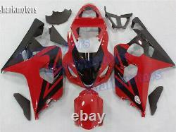 Fairing Red Black Fit for Suzuki GSXR 600 750 2004-2005 Plastic Injection mold