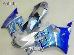 Fairing Silver Blue Injection Molding Fit For Honda CBR 600 F4 1999-2000 Plastic