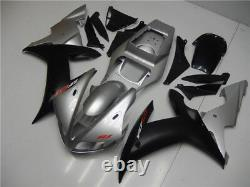 Fit for 2002 2003 YZF R1 Yamaha Injection Mold Silver Black ABS Plastic Set a003