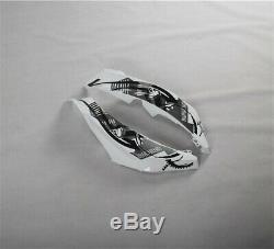 Fit for Honda 2007-2008 CBR600RR White Black Fairing Injection Mold Plastic ABS