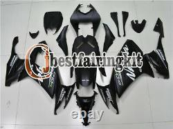 Fit for Kawasaki 2008-2010 ZX10R Black ABS Plastics Injection Mold Fairing a#03