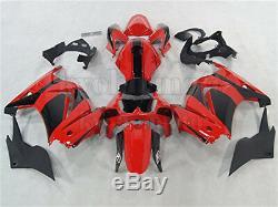 Fit for Kawasaki Ninja 250R 08-2012 Fairing Red Black Injection Mold Plastic Kit