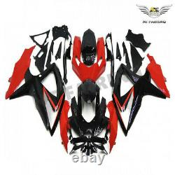 Fit for Suzuki 2008-2010 GSXR 600 750 Injection Mold Red Plastic Fairing a080