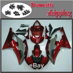 Fit for YAMAHA 2008-2015 YZF R6 Injection Mold Red Fairing ABS Plastics Kit a031
