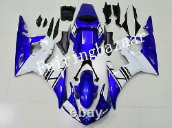 Fit for YZF R6 2005 Blue White ABS Plastic Injection Mold Bodywork Fairing Kit