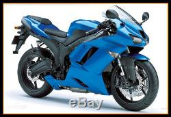 For 2007-08 ZX-6R ZX636 ABS Plastic Injection Mold Full Fairing Set Bodywork P05