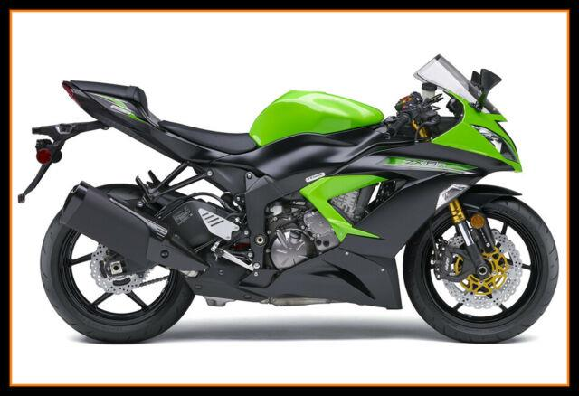 For 2013-18 Zx-6r Zx636 Abs Plastic Injection Mold Full Fairing Set Bodywork P08