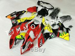 For BMW S1000RR 2009-2014 ABS Injection Mold Bodywork Fairing Plastic Red Shark