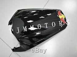For CBR1000RR 2008-2011 ABS Injection Mold Bodywork Fairing Plastic Kit Black RB