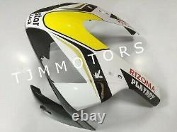 For CBR600RR 03-04 ABS Injection Mold Bodywork Fairing Kit Plastic White Black