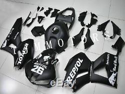 For CBR600RR 13-18 ABS Injection Mold Bodywork Fairing Kit Plastic Matte Black