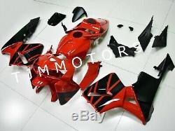 For CBR600RR 2005 2006 ABS Injection Mold Bodywork Fairing Kit Plastic Red Black