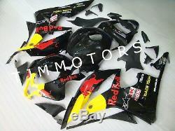 For CBR600RR 2007 2008 ABS Injection Mold Bodywork Fairing Kit Plastic Black RB