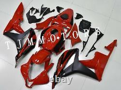 For CBR600RR 2007 2008 ABS Injection Mold Bodywork Fairing Kit Plastic Red Black