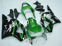 For CBR954RR 02-03 ABS Injection Mold Bodywork Fairing Kit Plastic Green Black