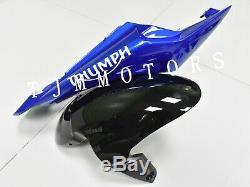 For Daytona 675 06-08 ABS Injection Mold Bodywork Fairing Kit Plastic Blue Black