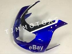 For GSXR1000 00-02 ABS Injection Mold Bodywork Fairing Kit Plastic White Blue