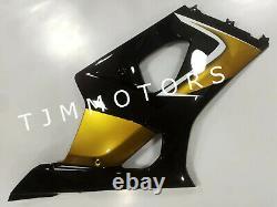 For GSXR1000 03-04 ABS Injection Mold Bodywork Fairing Kit Plastic Gold Black
