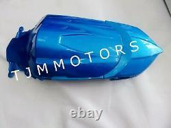 For GSXR600/750 08-10 ABS Injection Mold Bodywork Fairing Kit Plastic White Blue