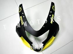 For GSXR600/750 2004-2005 ABS Injection Mold Bodywork Fairing Kit Black Yellow