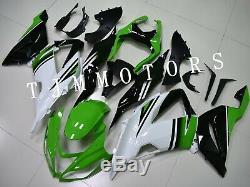 For NINJA ZX6R 13-17 ABS Injection Mold Bodywork Fairing Kit Plastic White Green