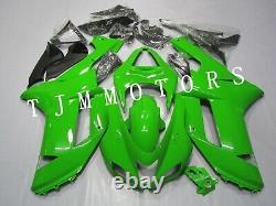 For NINJA ZX6R 2007 2008 ABS Injection Mold Bodywork Fairing Kit Plastic Green