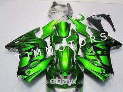 For Ninja250R 08-12 ABS Injection Mold Bodywork Fairing Kit Plastic Black Green