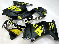 For Ninja250R 08-12 ABS Injection Mold Bodywork Fairing Kit Plastic Black Yellow