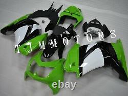 For Ninja250R 08-12 ABS Injection Mold Bodywork Fairing Kit Plastic White Green