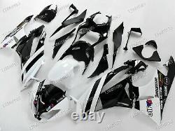 For Ninja ZX6R 09-12 ABS Injection Mold Bodywork Fairing Kit Plastic White Black