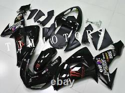 For Ninja ZX6R 2007 2008 ABS Injection Mold Bodywork Fairing Kit Plastic Black