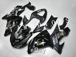 For Ninja ZX-10R 2006 2007 ABS Injection Mold Bodywork Fairing Kit Plastic Black