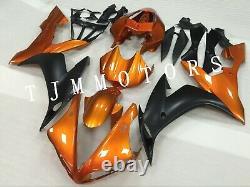 For YZF R1 04-06 ABS Injection Mold Bodywork Fairing Kit Plastic Orange Black