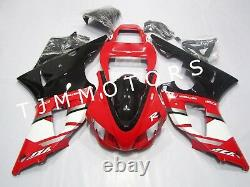 For YZF R1 1998-1999 ABS Injection Mold Bodywork Fairing Kit Plastic Red Black