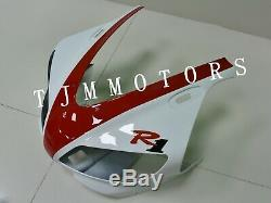 For YZF R1 1998-1999 ABS Injection Mold Bodywork Fairing Kit Plastic White Red
