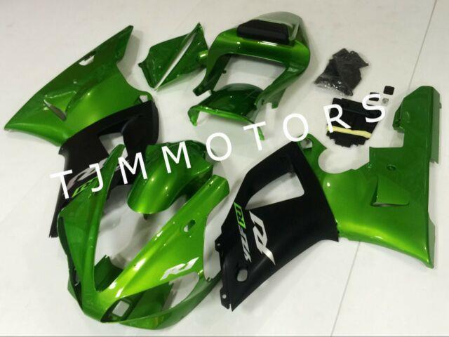 For Yzf R1 2000 2001 Abs Injection Mold Bodywork Fairing Kit Plastic Green Black